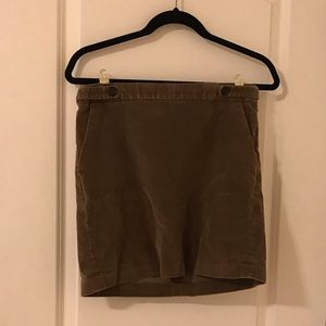 Banana Republic Mini Corduroy Skirt
